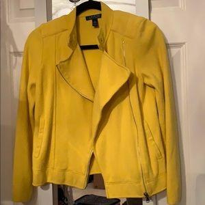 Yellow knit Moto blazer